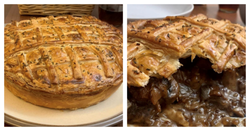 Featured image for The Devonshire at home – Steak, Mushroom & Onion pie.